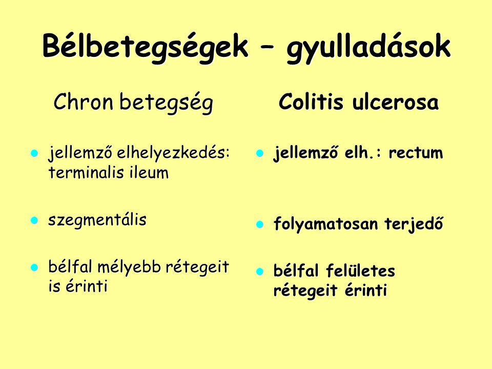 Bélbetegségek – gyulladások