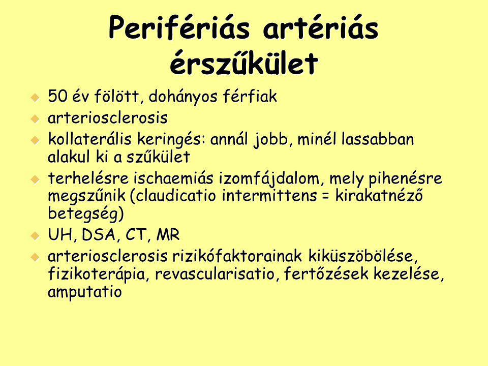 Perifériás artériás érszűkület