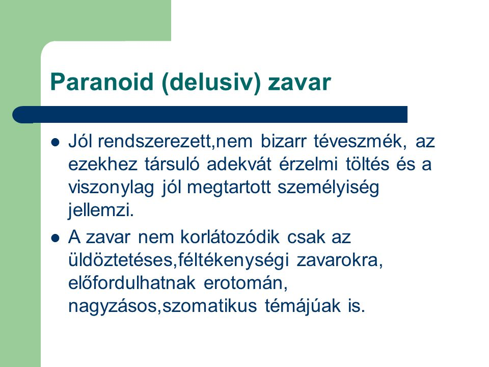 Paranoid (delusiv) zavar