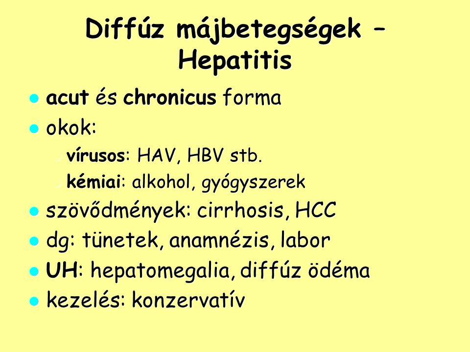 Diffúz májbetegségek – Hepatitis