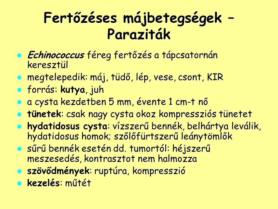 Fertőzéses májbetegségek – Paraziták
