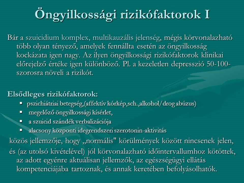 Öngyilkossági rizikófaktorok I