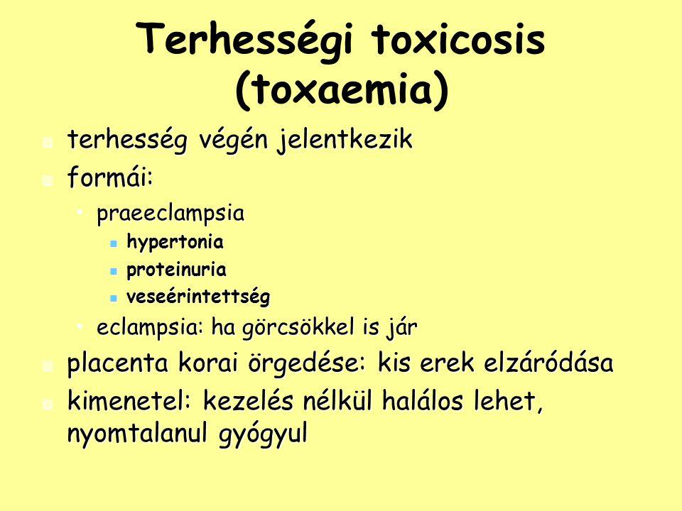 Terhességi toxicosis (toxaemia)