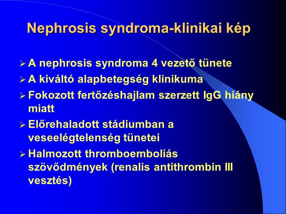 Nephrosis syndroma-klinikai kép