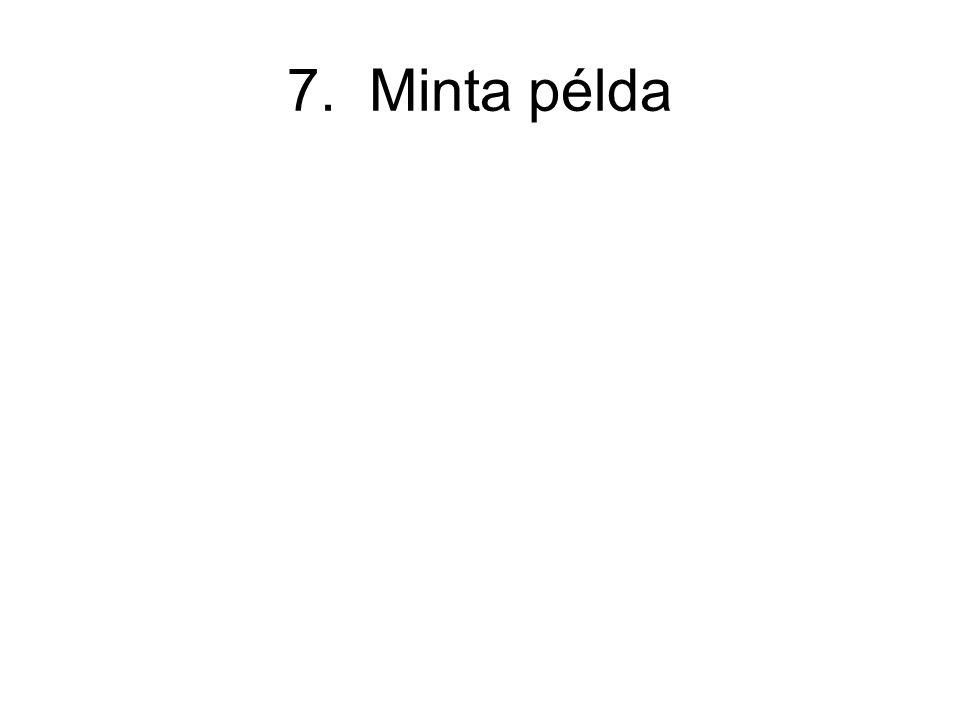 7. Minta példa