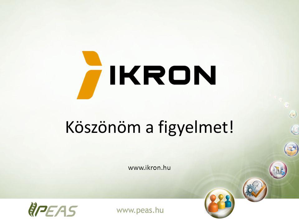 Köszönöm a figyelmet! www.ikron.hu