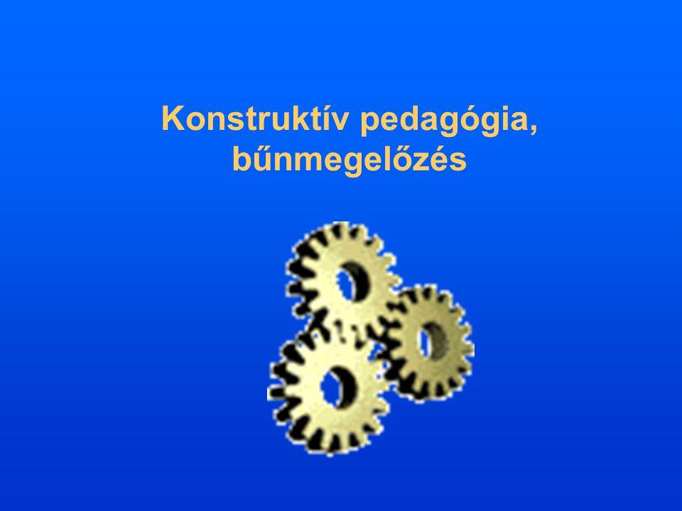 Konstruktív pedagógia, bűnmegelőzés