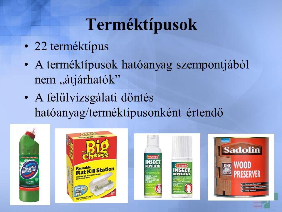 Terméktípusok 22 terméktípus