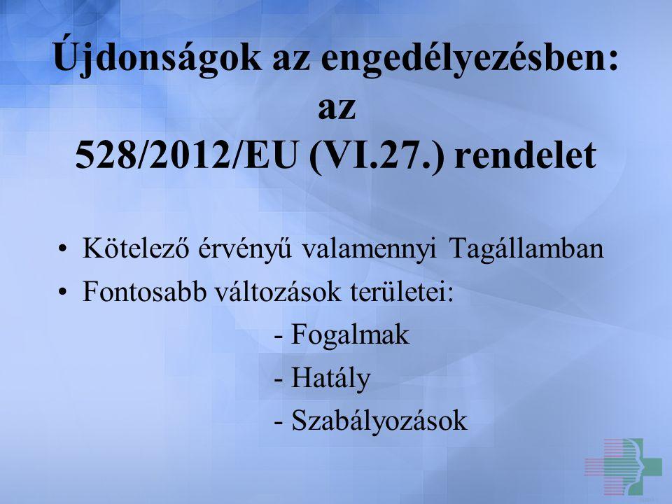Újdonságok az engedélyezésben: az 528/2012/EU (VI.27.) rendelet