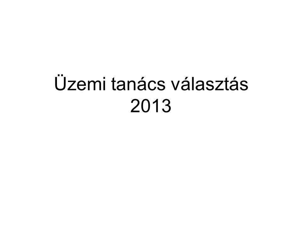 Üzemi tanács választás 2013