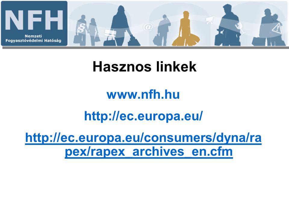 Hasznos linkek www.nfh.hu http://ec.europa.eu/