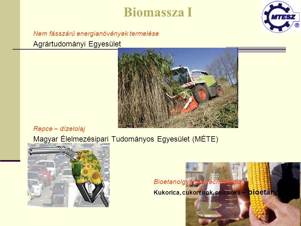 Biomassza I Agrártudományi Egyesület
