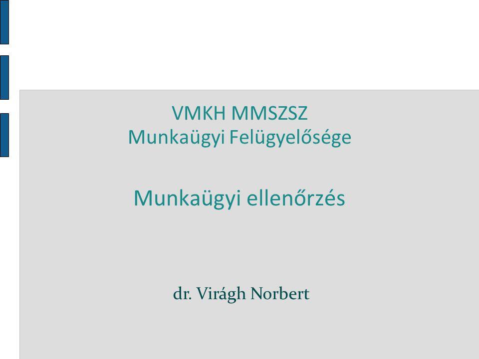 VMKH MMSZSZ Munkaügyi Felügyelősége Munkaügyi ellenőrzés