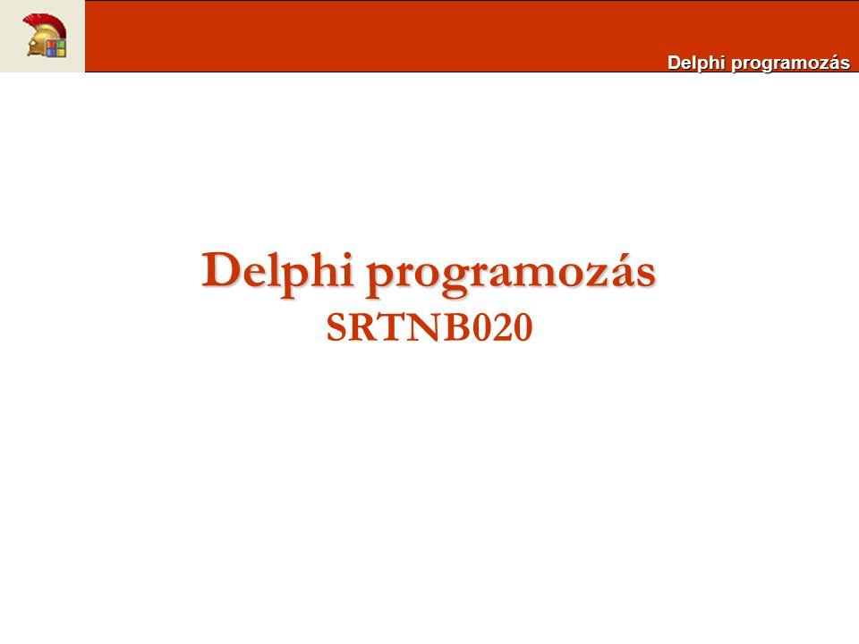 Delphi programozás SRTNB020