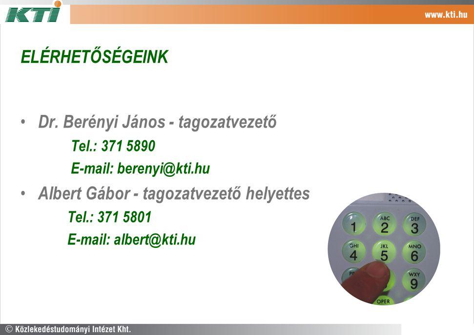Dr. Berényi János - tagozatvezető