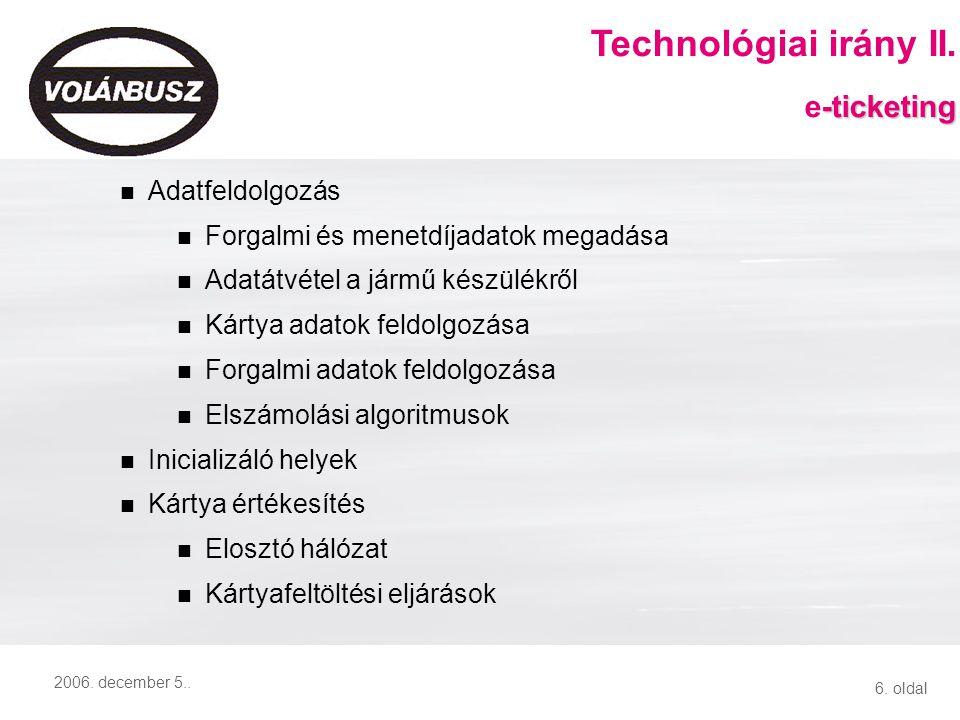 VOLÁNBUSZ Rt. - IIR rendszer I. e-ticketing