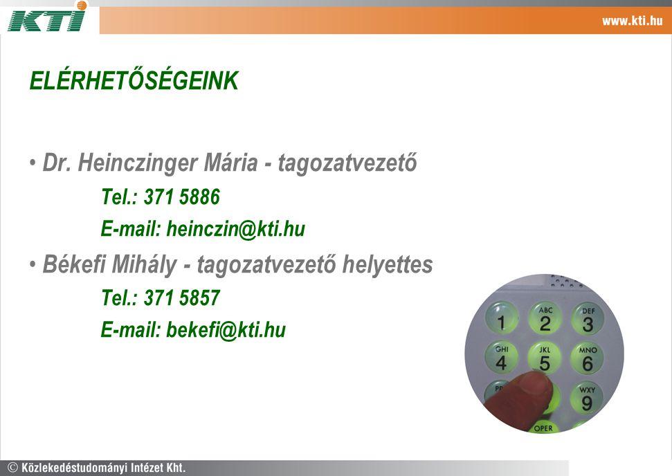 Dr. Heinczinger Mária - tagozatvezető