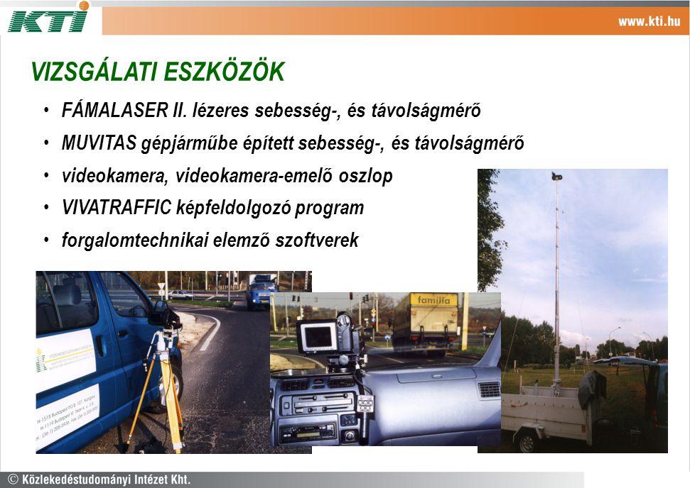 VIZSGÁLATI ESZKÖZÖK FÁMALASER II. lézeres sebesség-, és távolságmérő