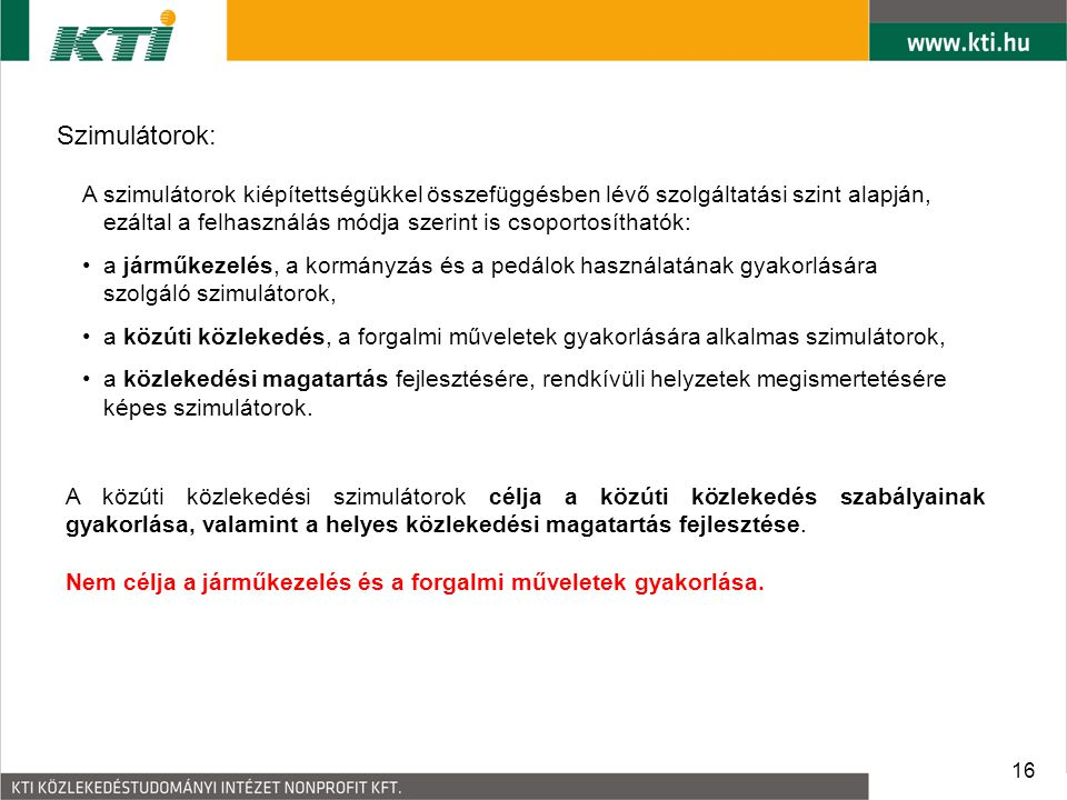 Szimulátorok: