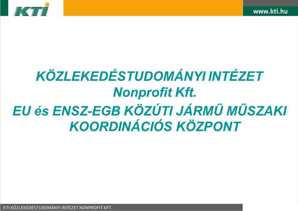 KÖZLEKEDÉSTUDOMÁNYI INTÉZET Nonprofit Kft.