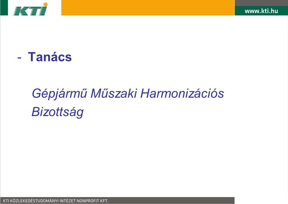 Tanács Gépjármű Műszaki Harmonizációs Bizottság