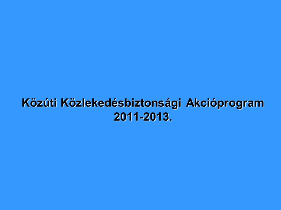 Közúti Közlekedésbiztonsági Akcióprogram 2011-2013.