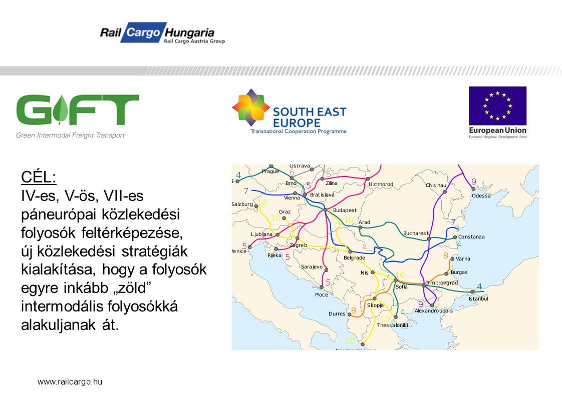 CÉL: IV-es, V-ös, VII-es páneurópai közlekedési folyosók feltérképezése,