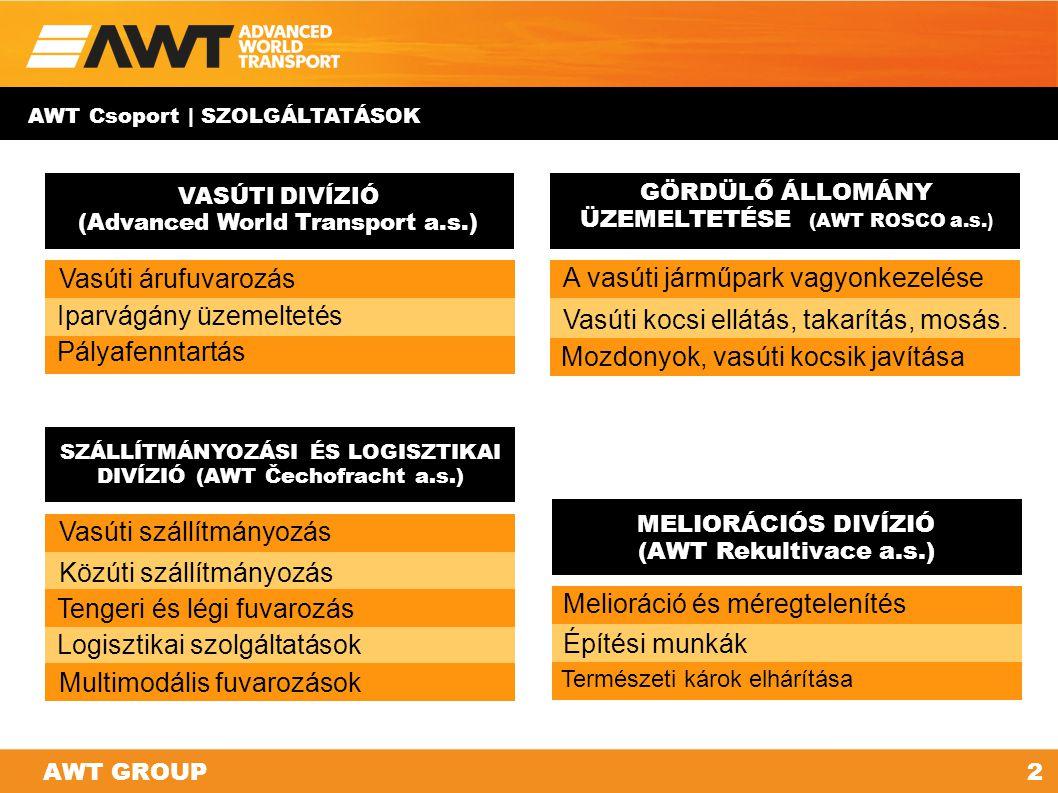 Az «АWT GROUP» holding struktúrája