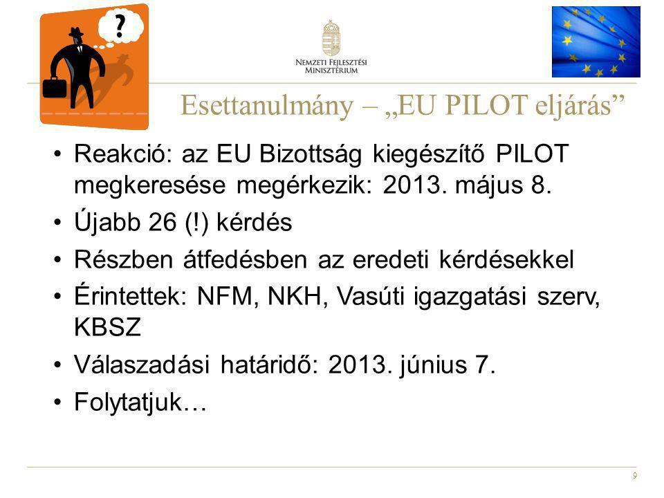 """Esettanulmány – """"EU PILOT eljárás"""