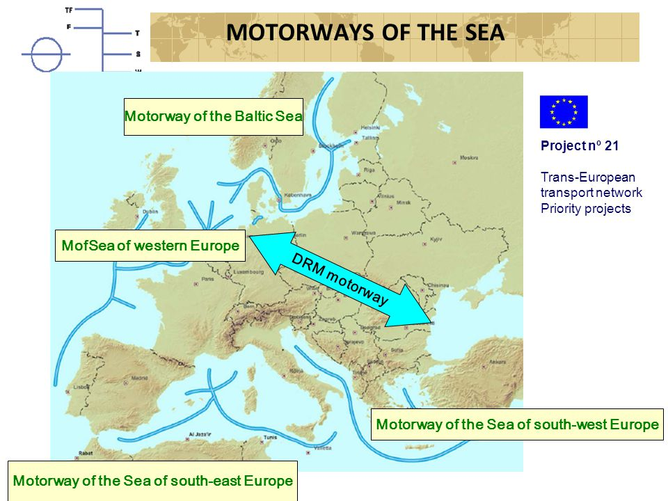 MOTORWAYS OF THE SEA Motorway of the Baltic Sea. Project nº 21. Trans-European transport network.