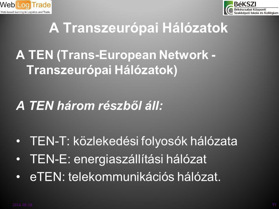 A Transzeurópai Hálózatok