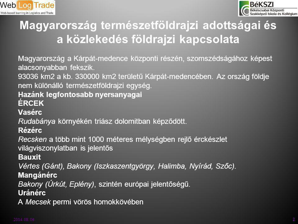 Magyarország természetföldrajzi adottságai és a közlekedés földrajzi kapcsolata