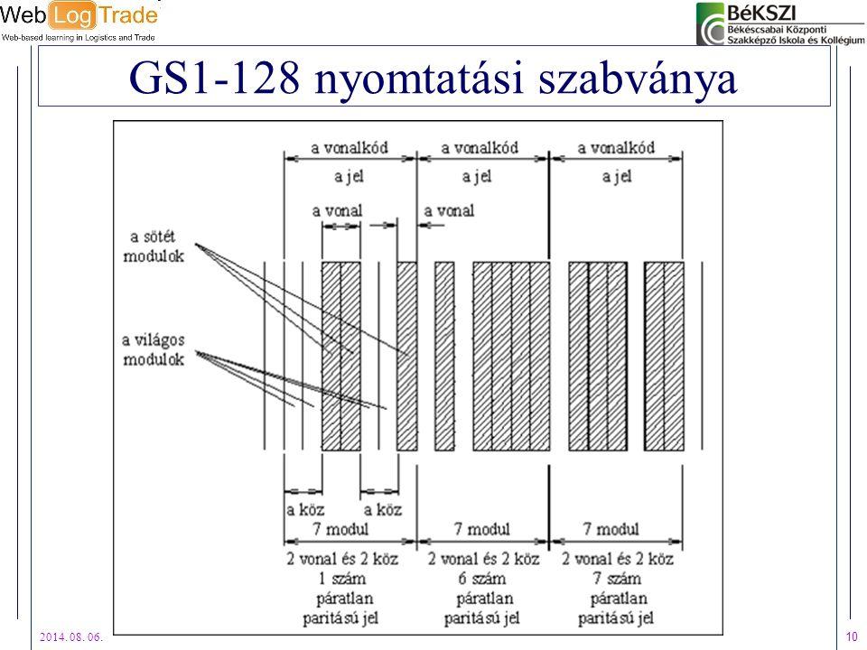 GS1-128 nyomtatási szabványa