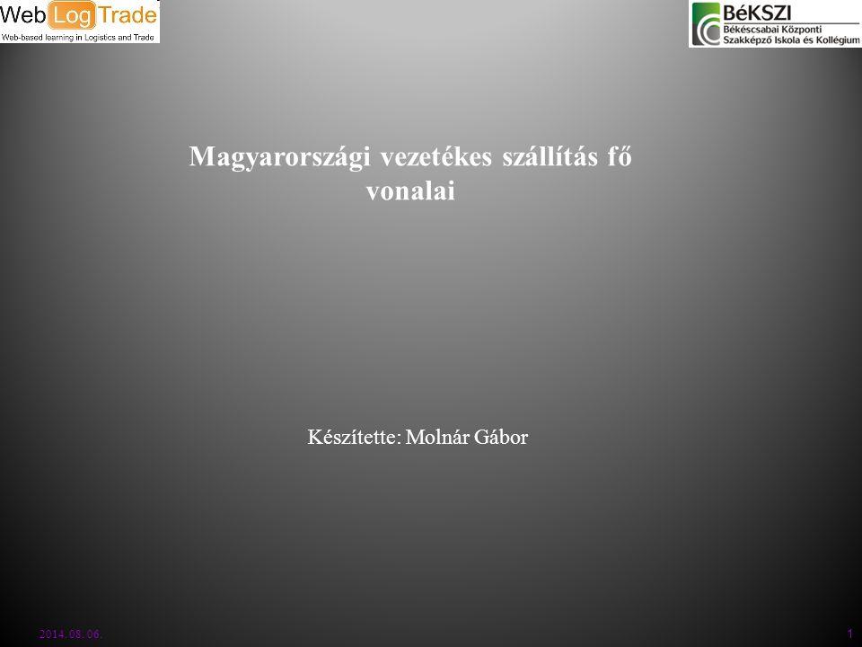 Magyarországi vezetékes szállítás fő vonalai