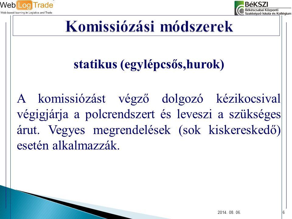 Komissiózási módszerek