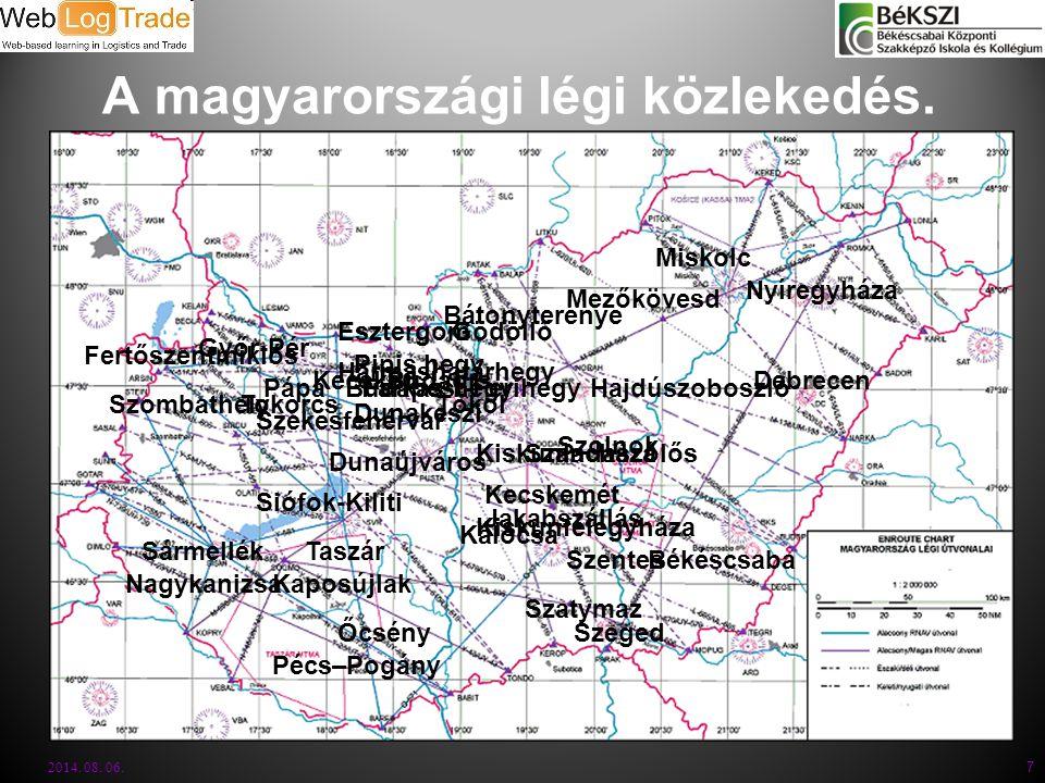 A magyarországi légi közlekedés.