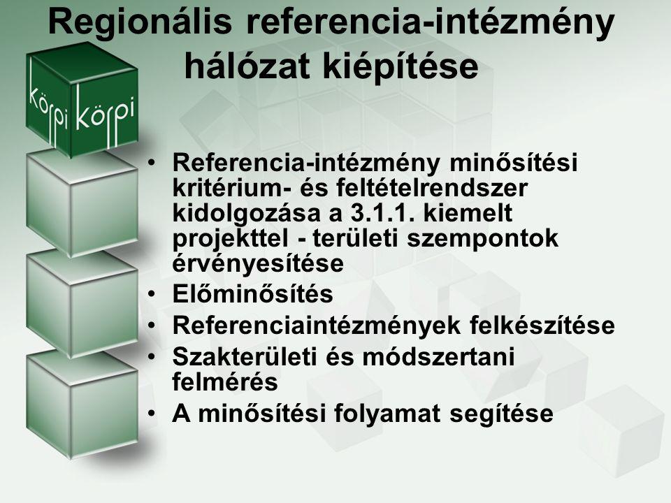 Regionális referencia-intézmény hálózat kiépítése