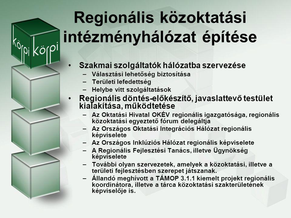 Regionális közoktatási intézményhálózat építése
