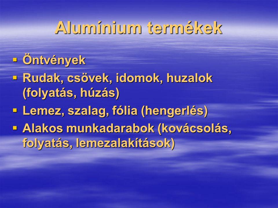 Alumínium termékek Öntvények