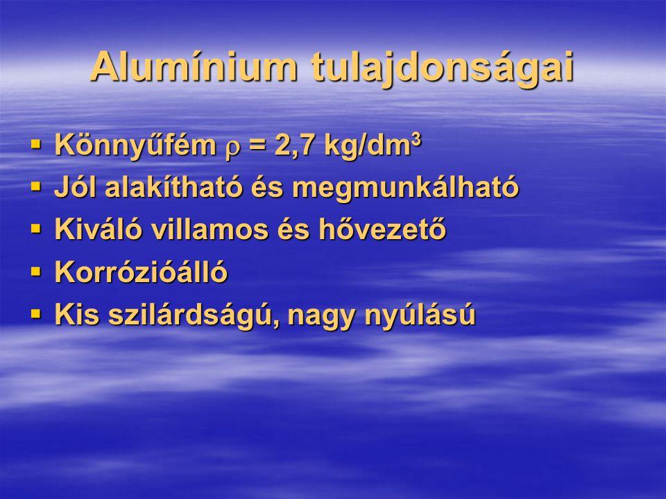 Alumínium tulajdonságai