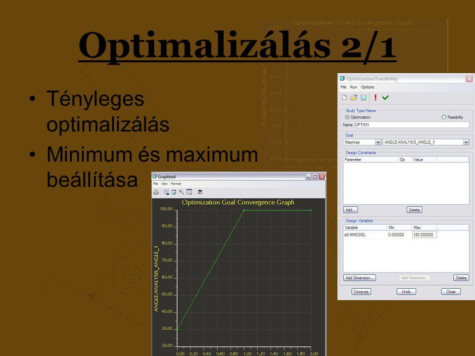 Optimalizálás 2/1 Tényleges optimalizálás