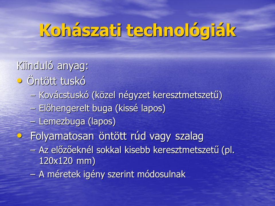 Kohászati technológiák