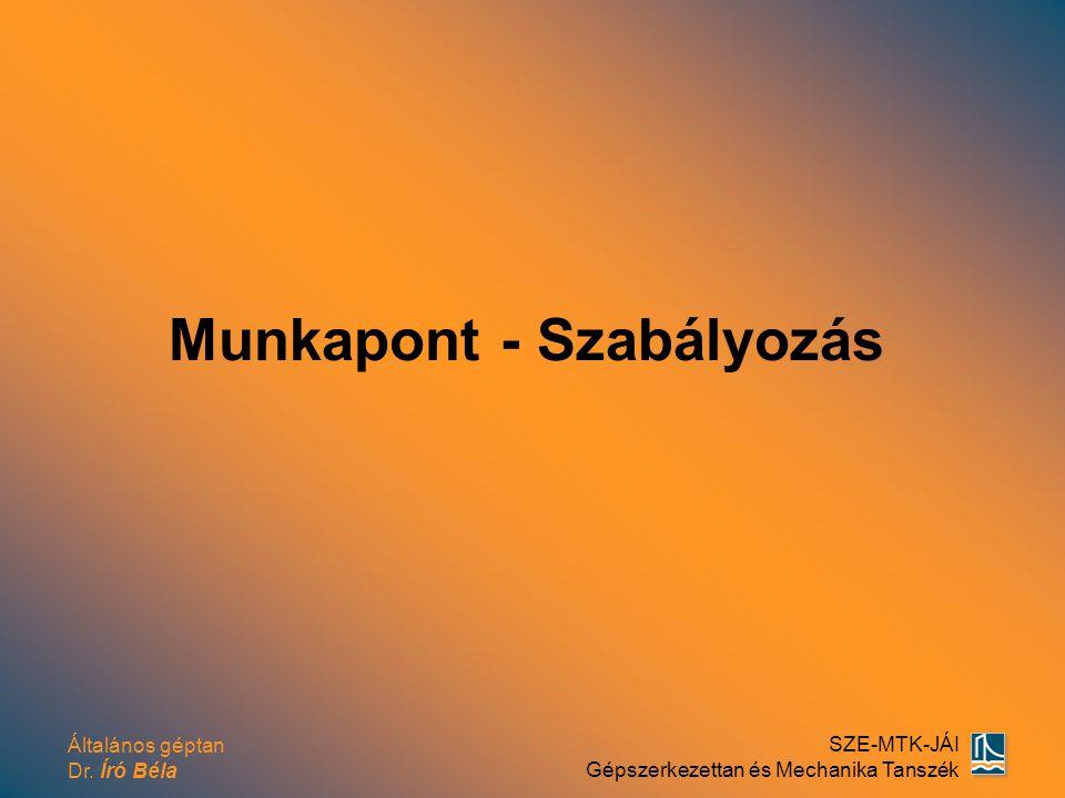 Munkapont - Szabályozás