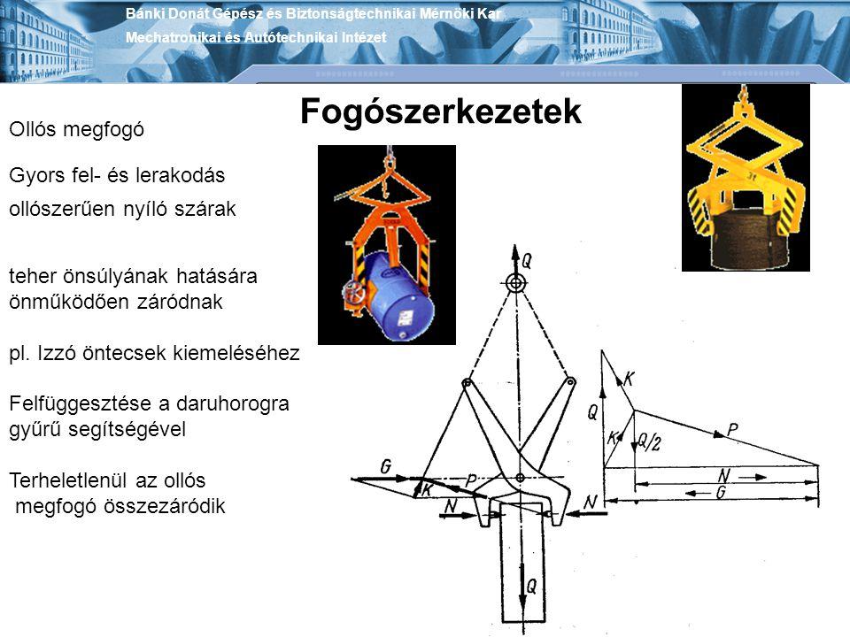 Fogószerkezetek Ollós megfogó Gyors fel- és lerakodás