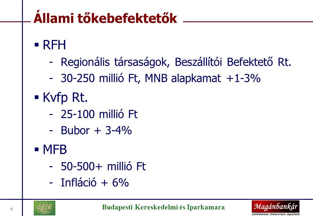 Az MFB tőkebef. program fő kritériumai