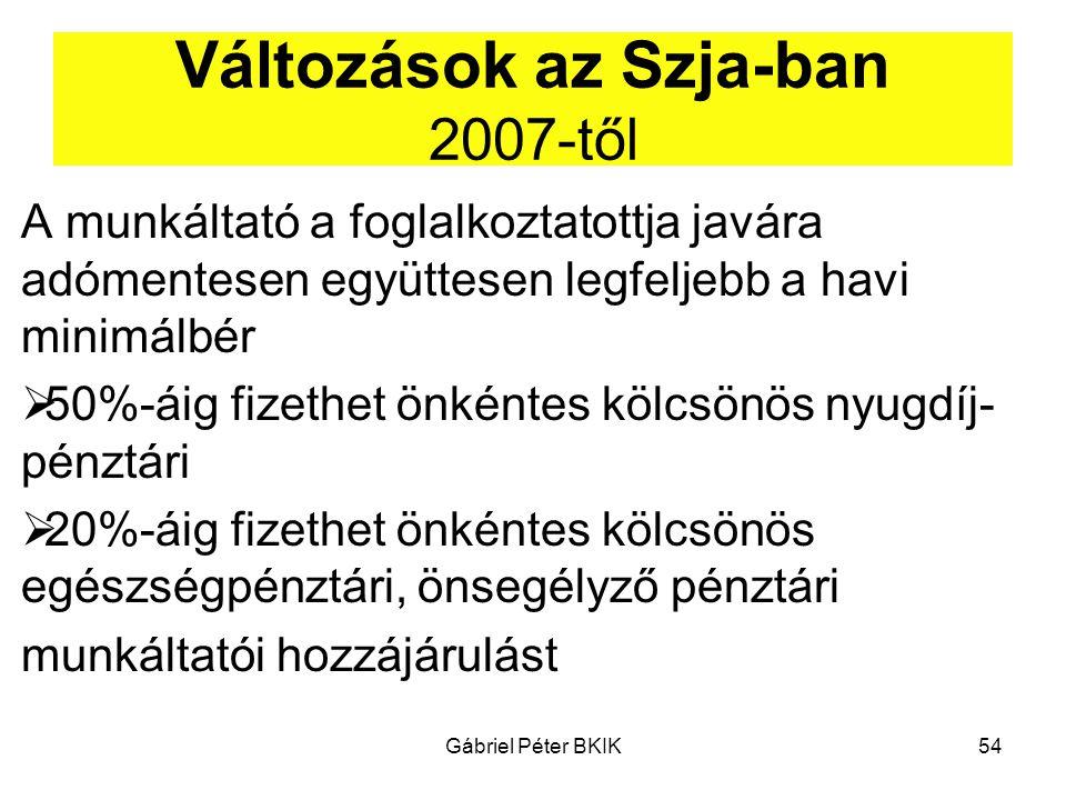 Változások az Szja-ban 2007-től