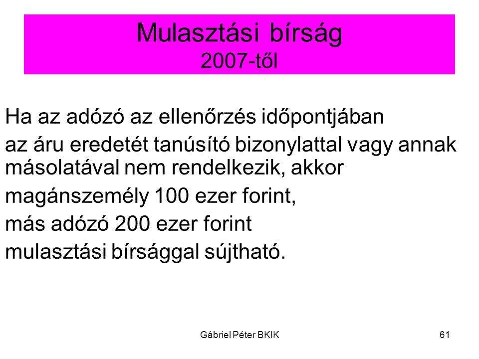 Mulasztási bírság 2007-től