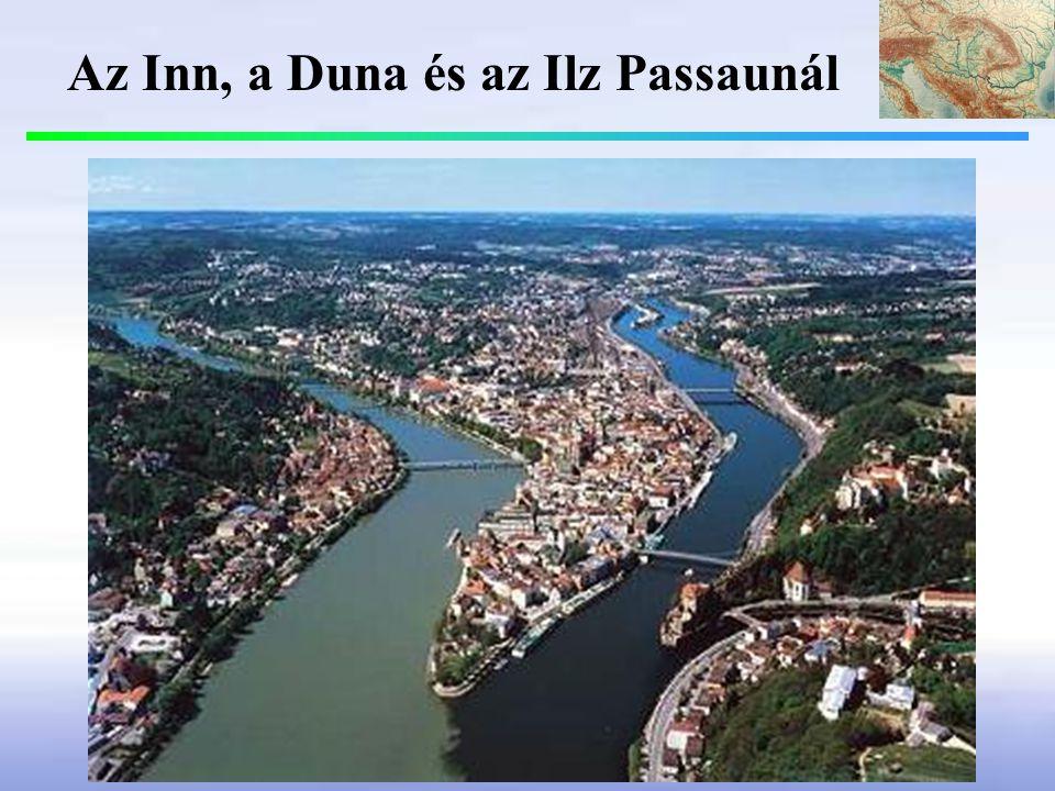 Az Inn, a Duna és az Ilz Passaunál