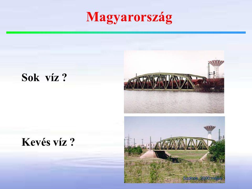 Magyarország Sok víz Kevés víz
