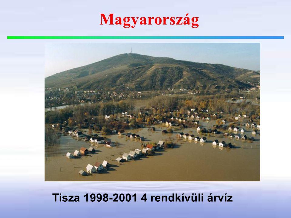 Magyarország Tisza 1998-2001 4 rendkívüli árvíz